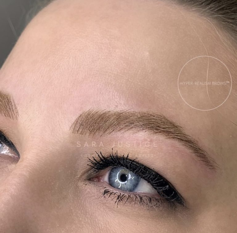 scultped eyebrows