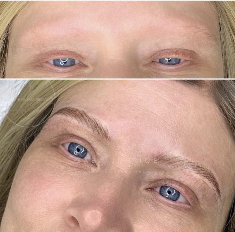 invisible makeup - natural looking eyebrow restoration