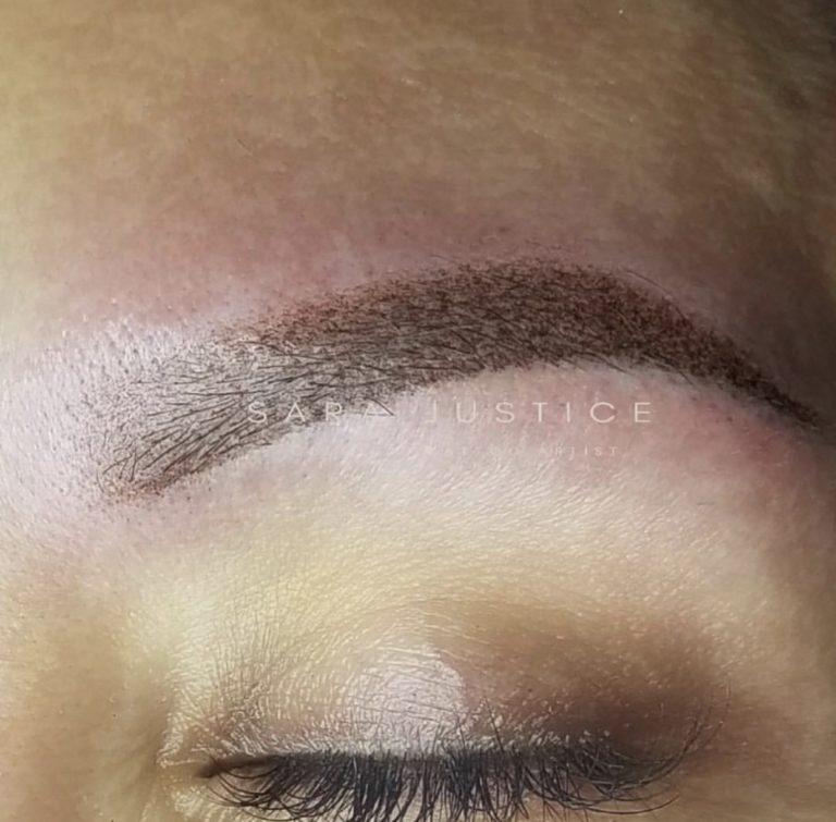 finished eyebrow tattoo