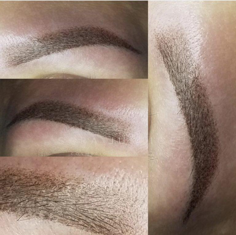 natural look permanent makeup - brows