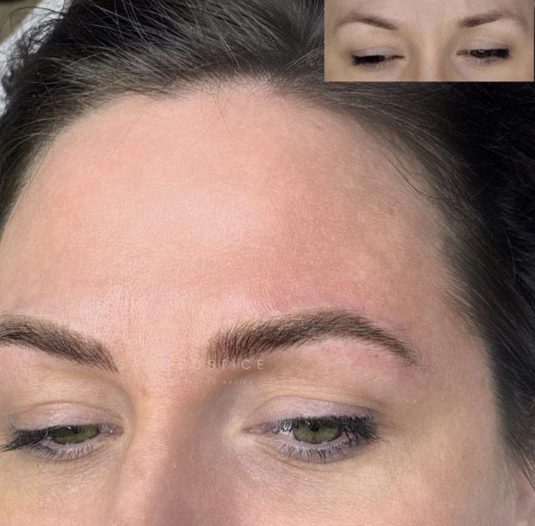 cosmetic eyebrow service example