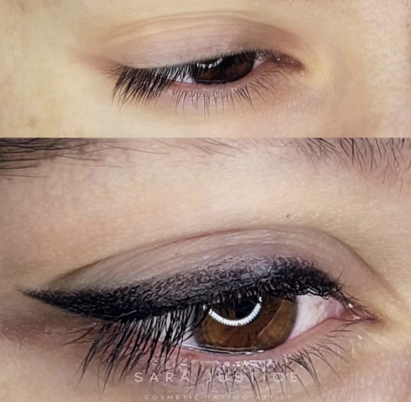 dark eyeliner permanent makeup example
