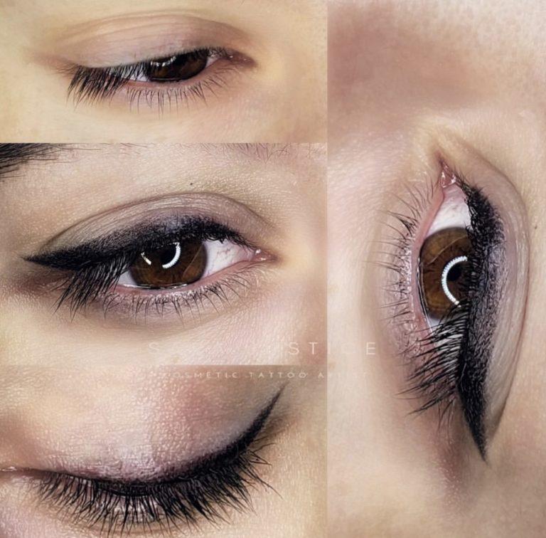 dark eyeliner makeup tattoo