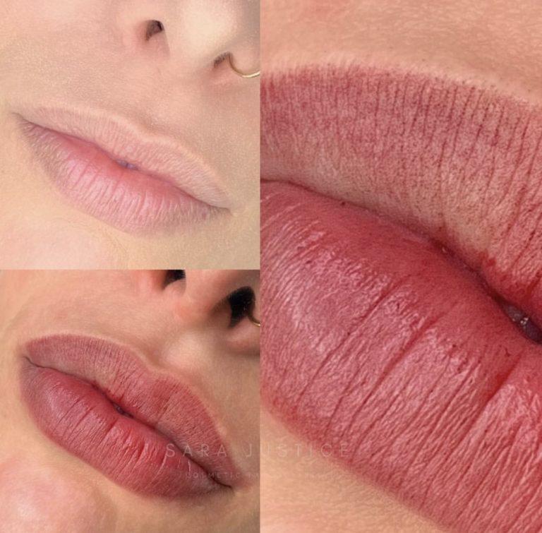 adding lip colour