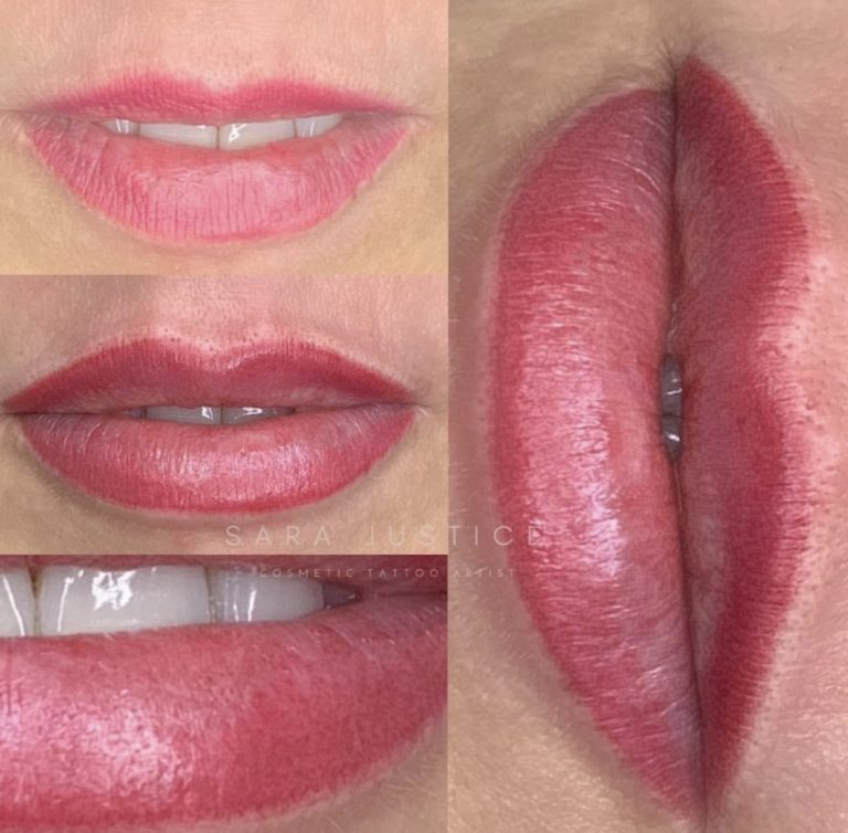 red permanent lipstick example