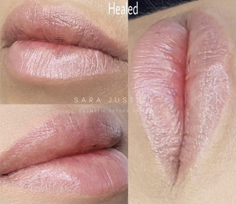 bright glossy lips