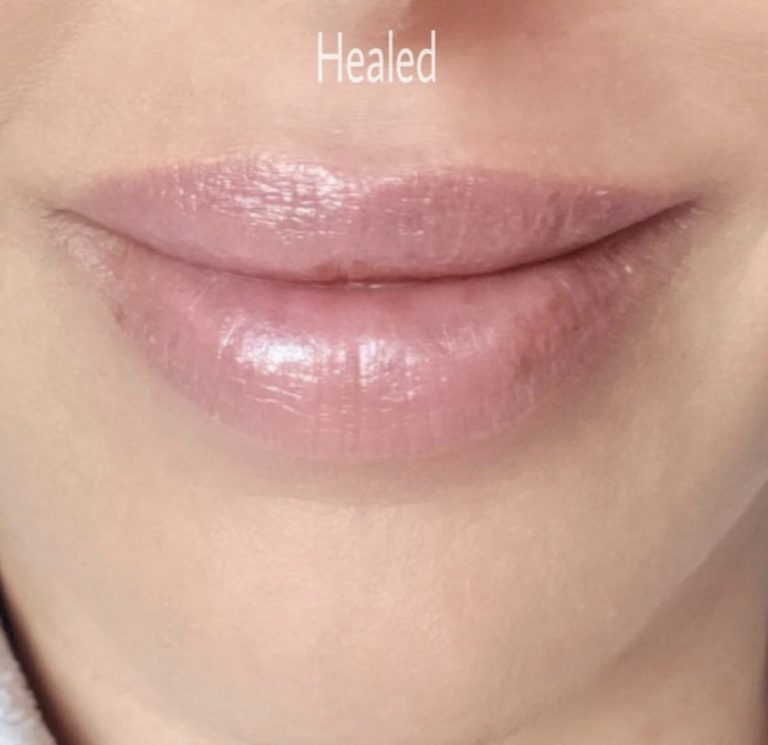 example of lip permanent makeup