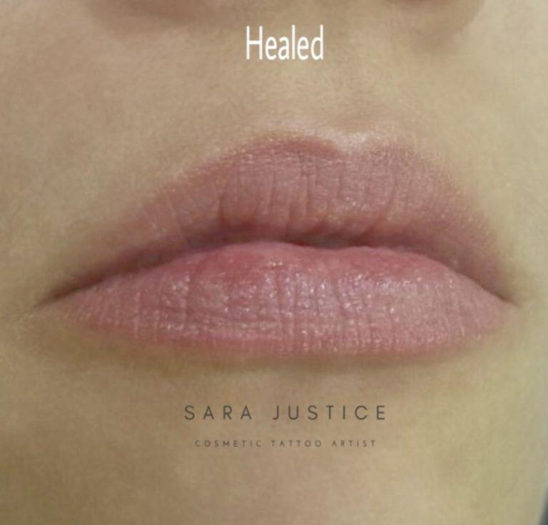 permanent lipstick - healed