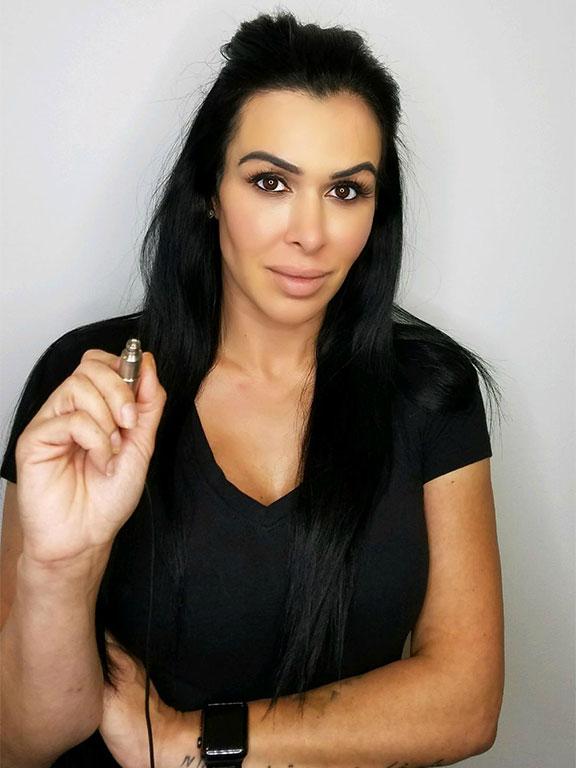 Permanent makeup artist, Sara Justice