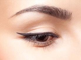 eye and brow close-up